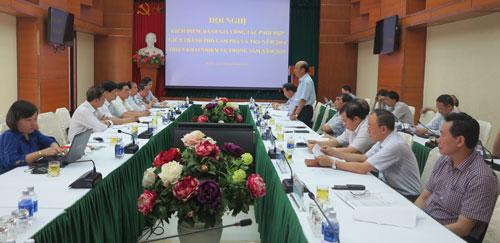 Hội nghị kiểm điểm đánh giá công tác phối hợp giữa TP. Cẩm Phả và TKV năm 2014, triển khai nhiệm vụ trọng tâm 2015
